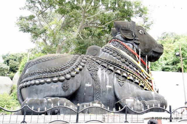 Nandi atop Chamundi hill of Mysore