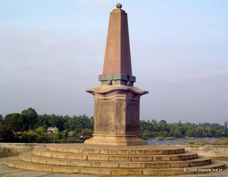 Obelisk in Srirangapatna is a memorial erected by the then government of Mysore in memory of the English soldiers died during the siege of Srirangapatna.