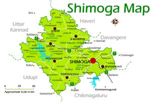 Shimoga Tourism Map