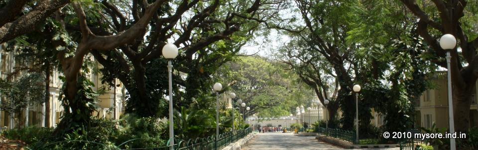 Gardens in Mysore Palace
