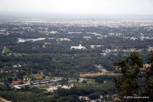 Mysore City from Chamundi Hill top