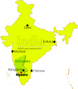 Location of Mysore on India