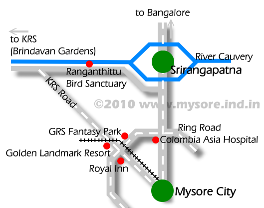 Bangalore Mysore Road and the KRS Road.
