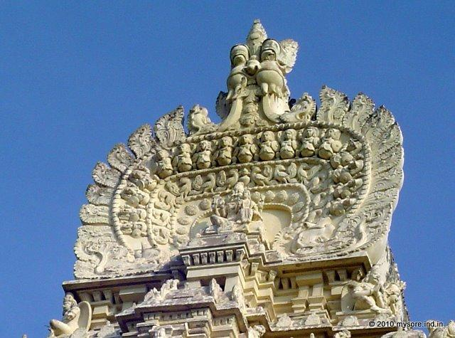 Crest of Sri Ranganathaswamy Temple tower