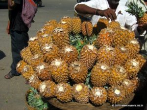 Pineapple for sale at Devaraja Market