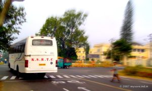 KSRTC Bus in Mysore City