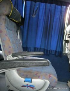 Seats of the Airavat Bus ( volvo buses by KSRTC)
