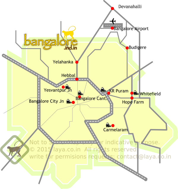 Bangalore Railway Stations Map