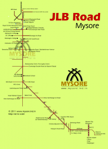 JLB Road in Mysore city