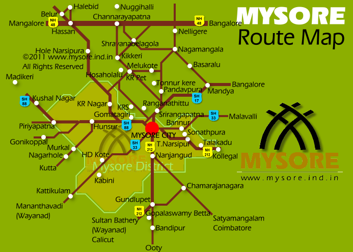 Mysore Road Map Train Bus Tips For Mysore Travel