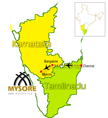 Chennai Bangalore Mysore Flight route