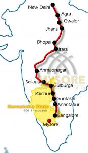 Karnataka Express Route map