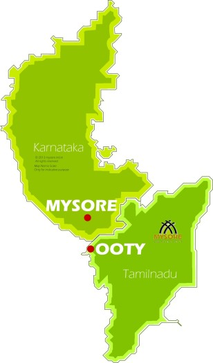 Ooty & Mysore location