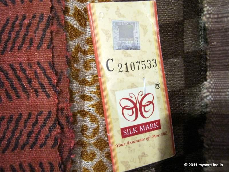 Silk Mark label on silk cloth