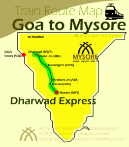 Dharwad Express Route Map