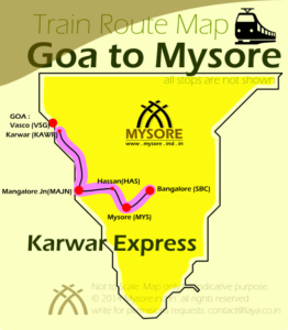 Karwar Express Route Map